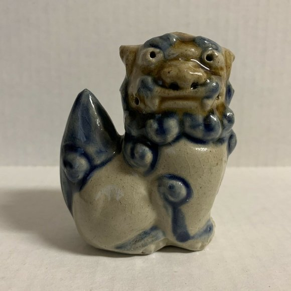 Chinese Foo Dog Figurine Sitting Right